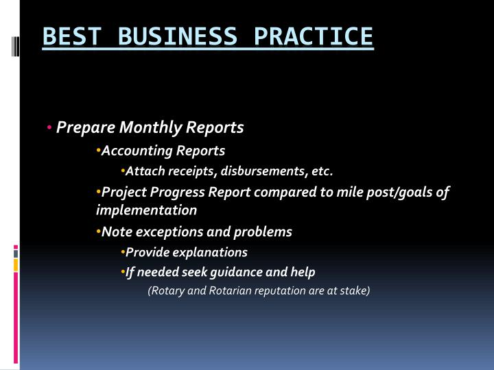 Prepare Monthly Reports