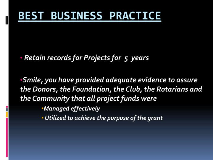 Retain records for Projects