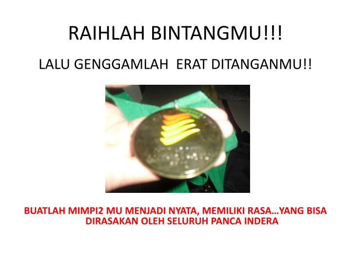 RAIHLAH BINTANGMU!!!