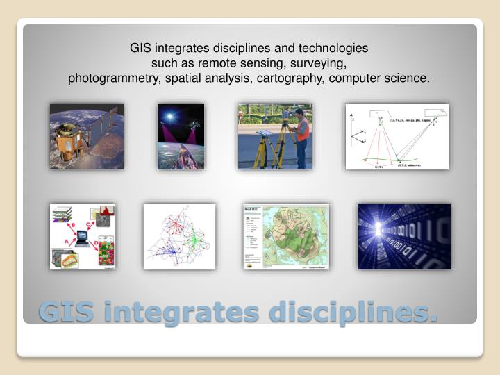 GIS integrates disciplines and technologies