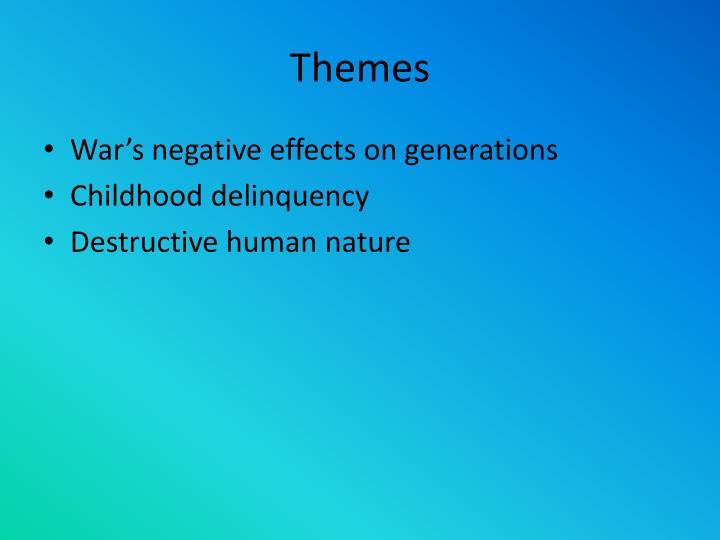 The Destructors Human Nature