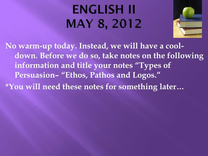 English ii may 8 2012