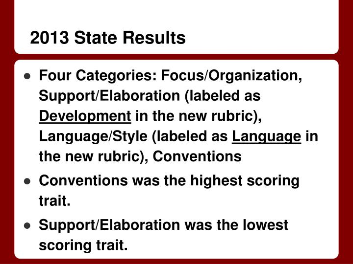 2013 state results