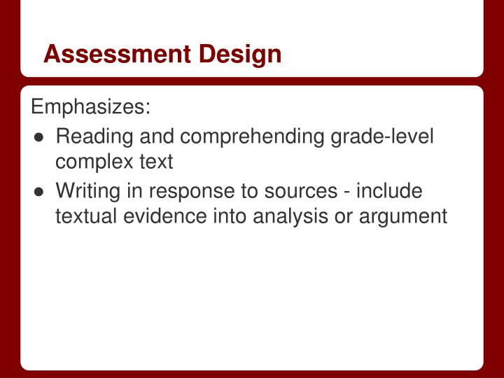 Assessment Design