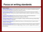 focus on writing standards