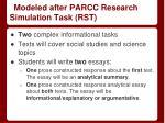 modeled after parcc research simulation task rst