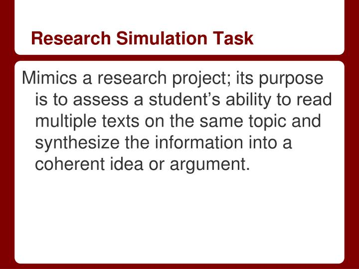 Research Simulation Task