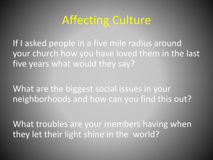 Affecting Culture