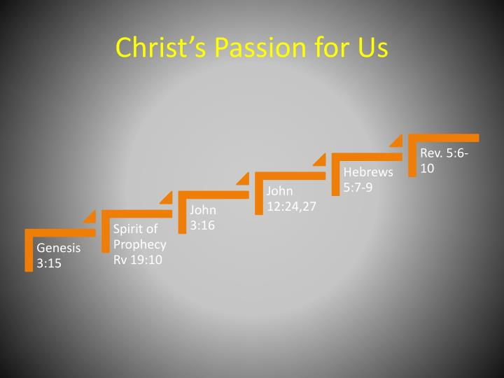 Christ's Passion for Us