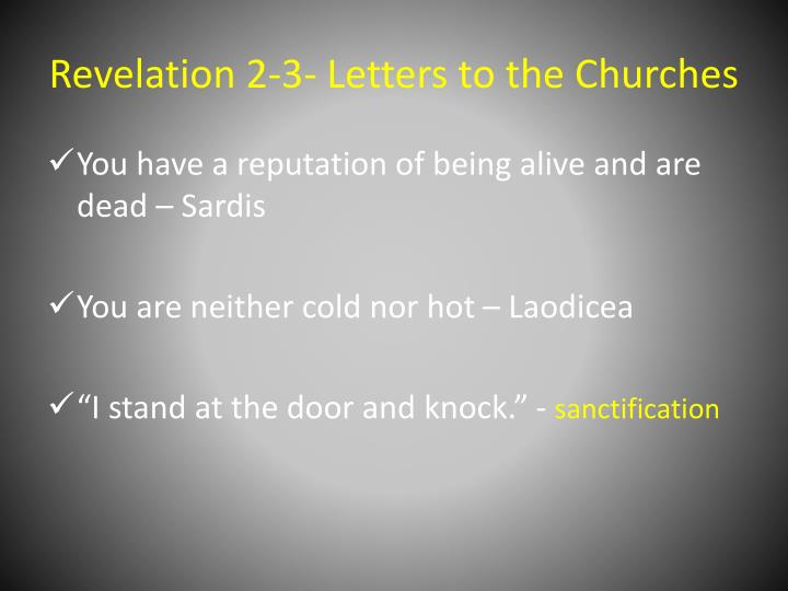 Revelation 2-3- Letters to the Churches