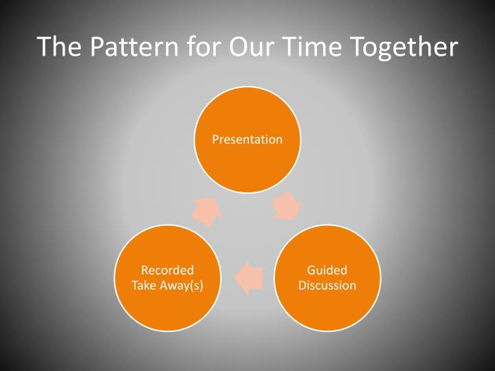 The pattern for our time together