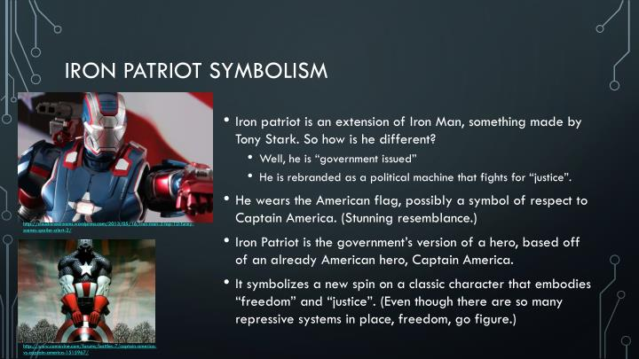Iron patriot symbolism