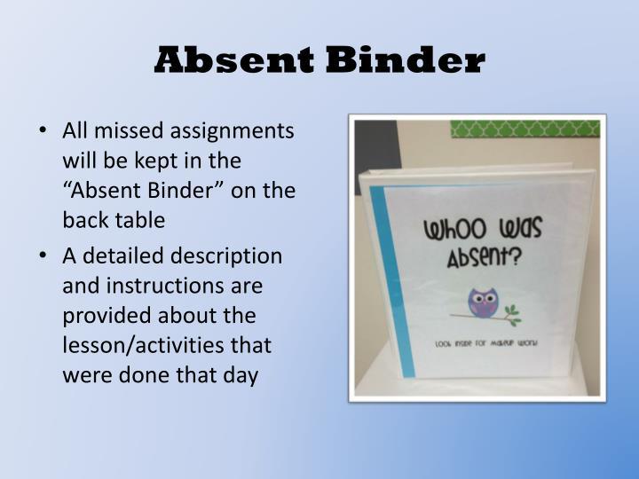 Absent Binder