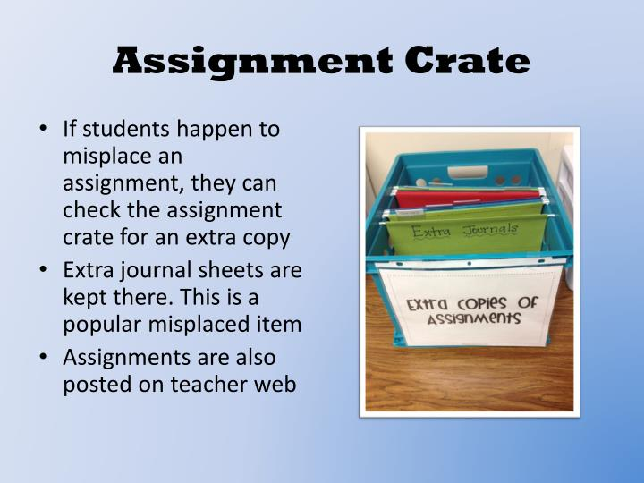 Assignment Crate