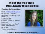 meet the teacher mrs emily hernandez