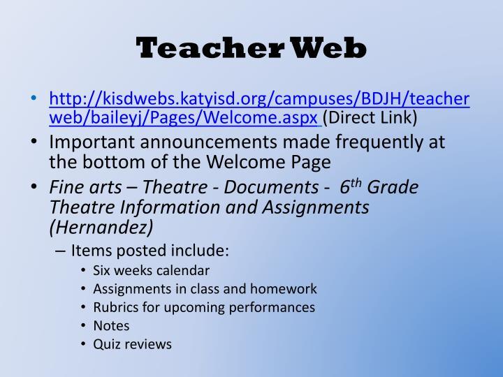 Teacher Web