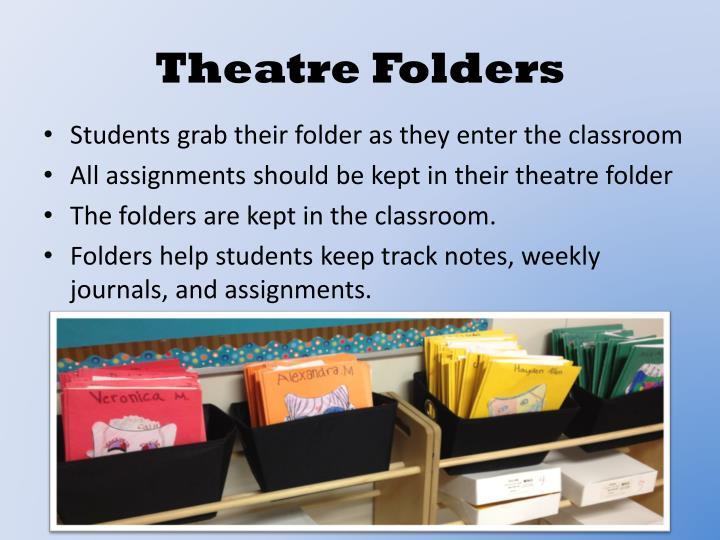 Theatre Folders