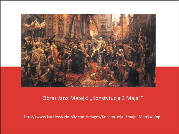 "Obraz Jana Matejki ""Konstytucja 3 Maja"""""