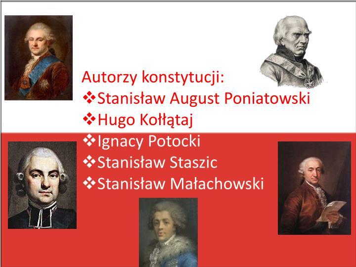 Autorzy konstytucji: