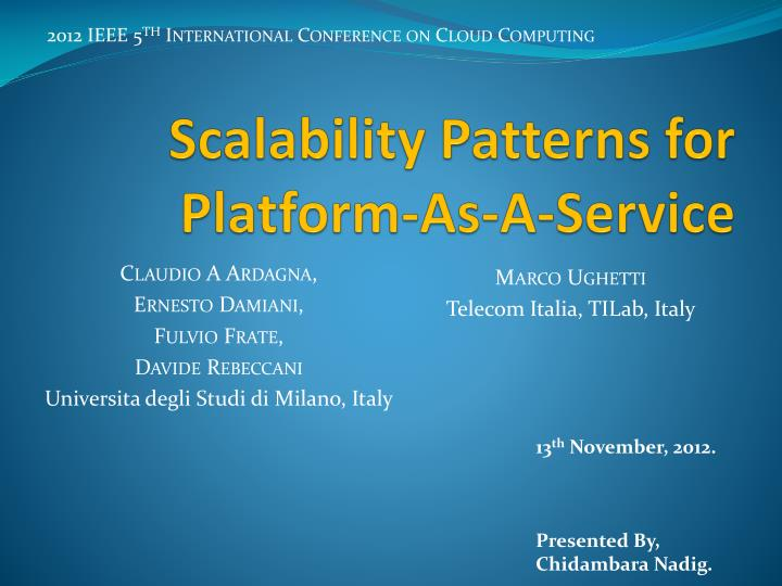 Scalability patterns for platform as a service