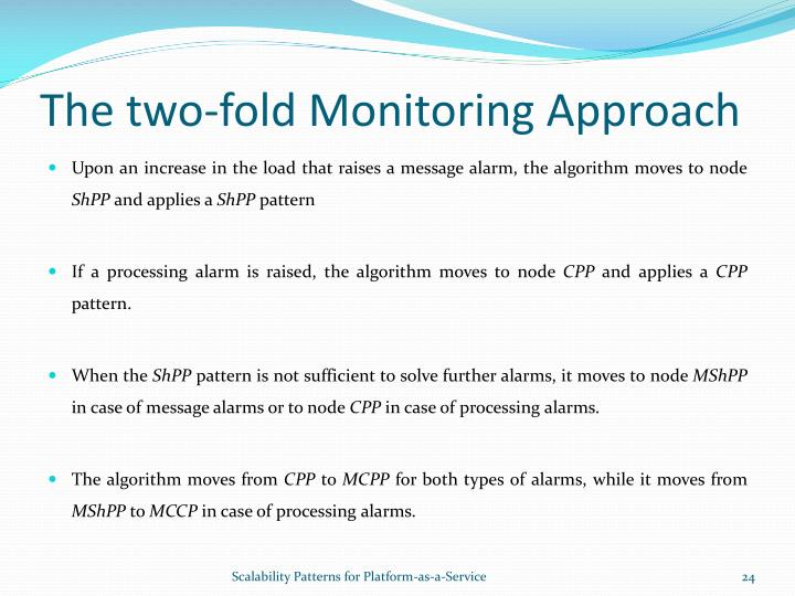 The two-fold Monitoring Approach