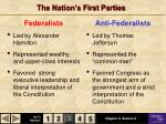 the nation s first parties