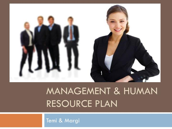 Management human resource plan