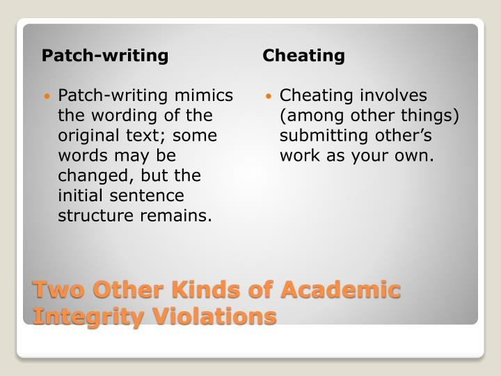 Patch-writing