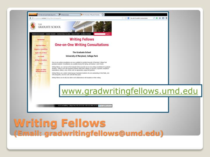 www.gradwritingfellows.umd.edu