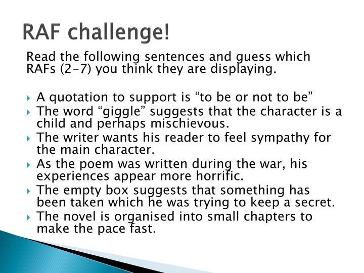 RAF challenge!