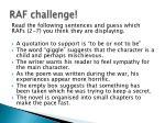 raf challenge
