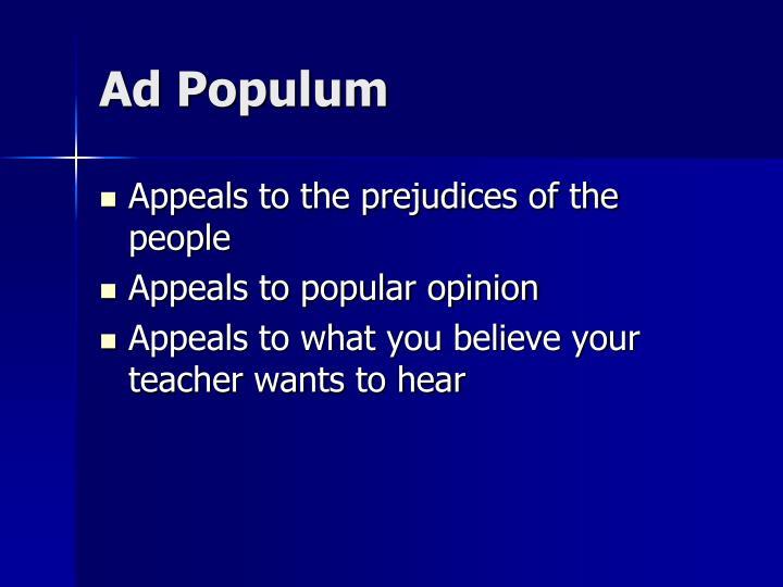Ad Populum