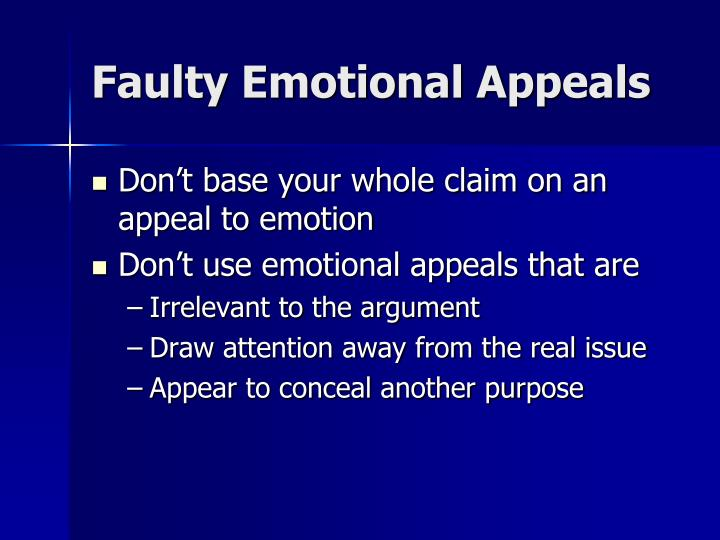 Faulty Emotional Appeals