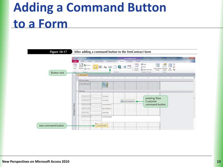 Adding a Command Button