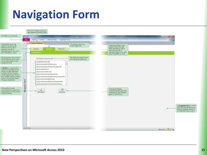 Navigation Form