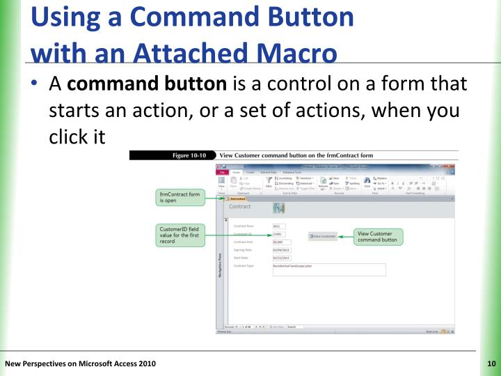 Using a Command Button