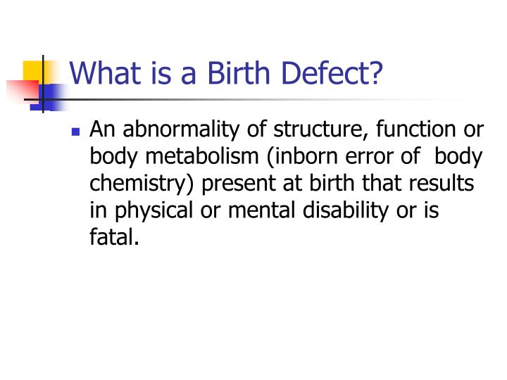 What is a Birth Defect?