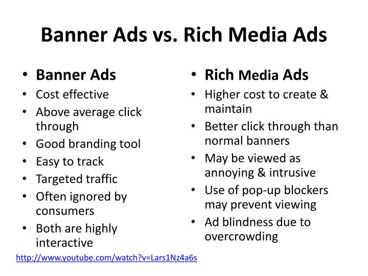 Banner Ads vs. Rich Media Ads