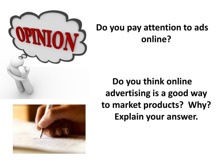 Do you pay attention to ads online?