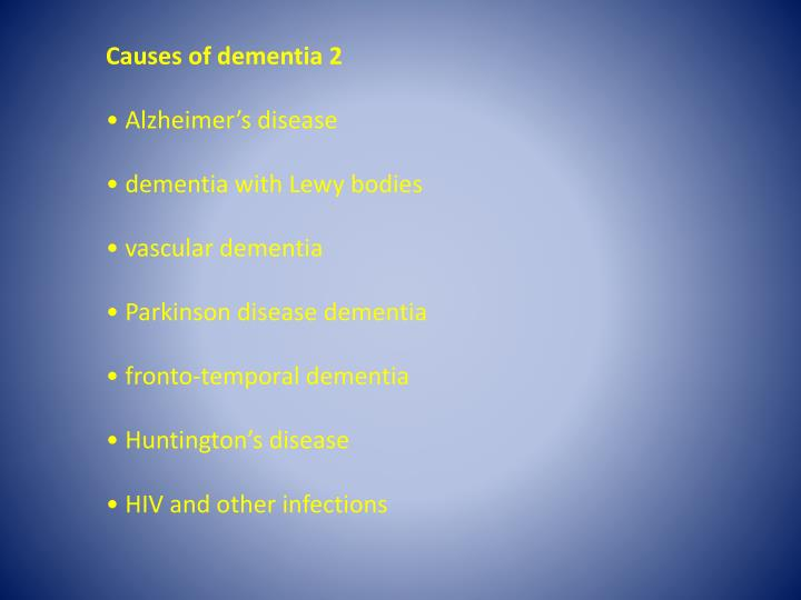 Causes of dementia 2