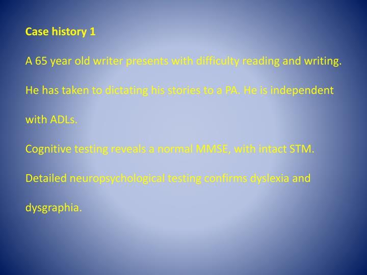 Case history 1
