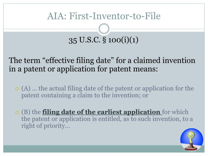 AIA: First-Inventor-to-File