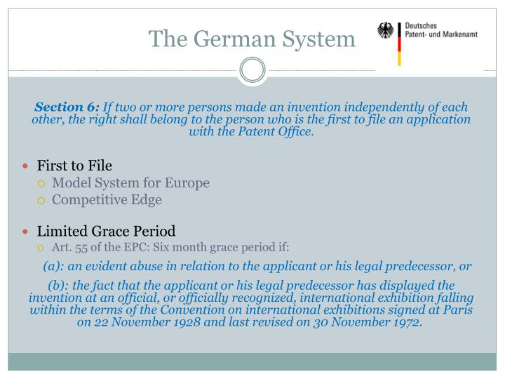 The German System