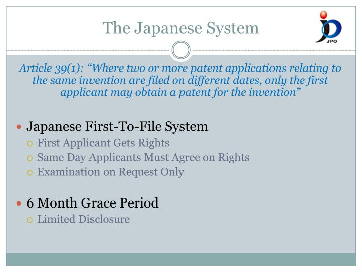 The Japanese System
