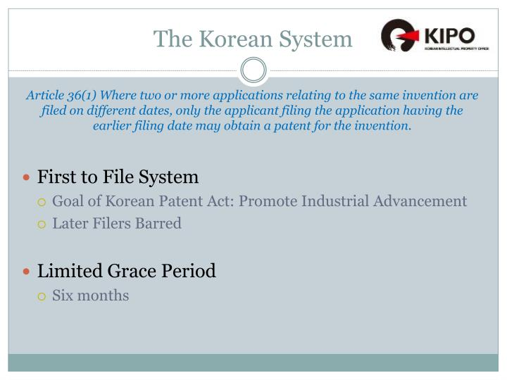 The Korean System