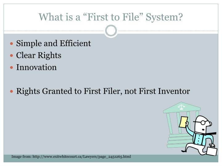 What is a first to file system