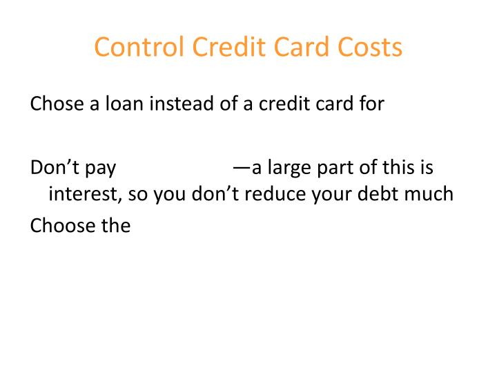 Control Credit Card Costs