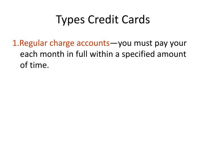Types Credit Cards