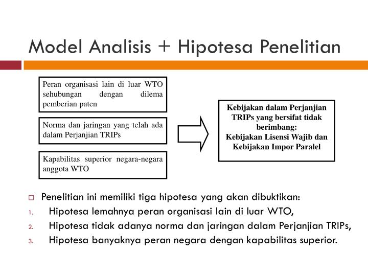 Model Analisis +