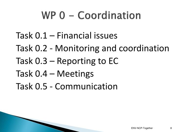 WP 0 - Coordination